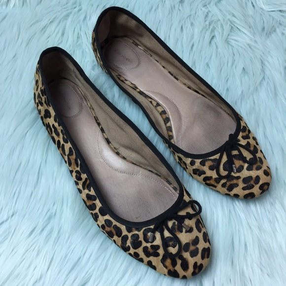 524e6358fde0 Lands' End Shoes | Lands End Calf Hair Animal Leopard Flats 11 ...
